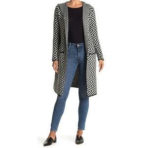 Joseph A hooded long cardigan sweater coat